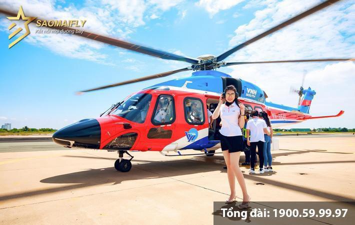 Vé trực thăng Vũng Tàu Côn Đảo giá rẻ