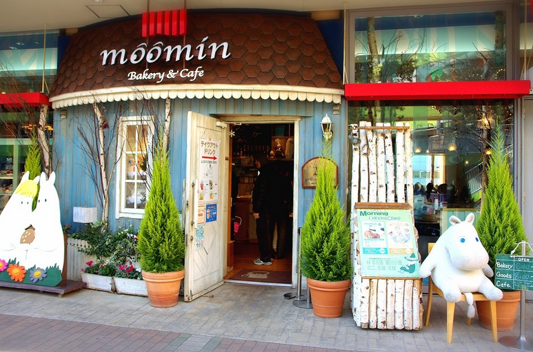 Moomin cafe ở Hong Kong